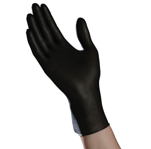 Item Number N200BLK - Black Nitrile Exam Powder Free Gloves