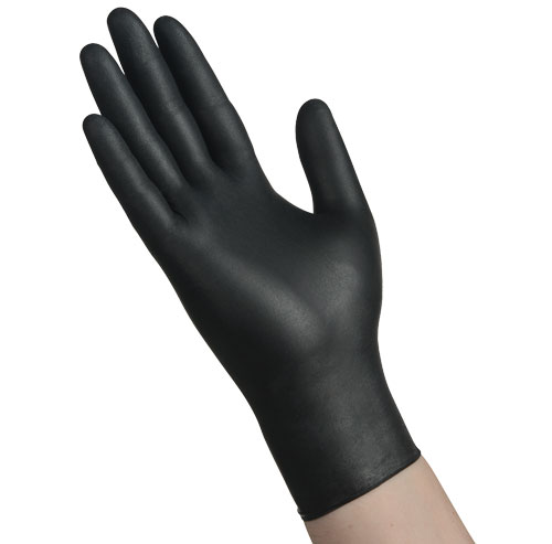 Item Number N4201BLK - Black Nitrile Powder Free Gloves